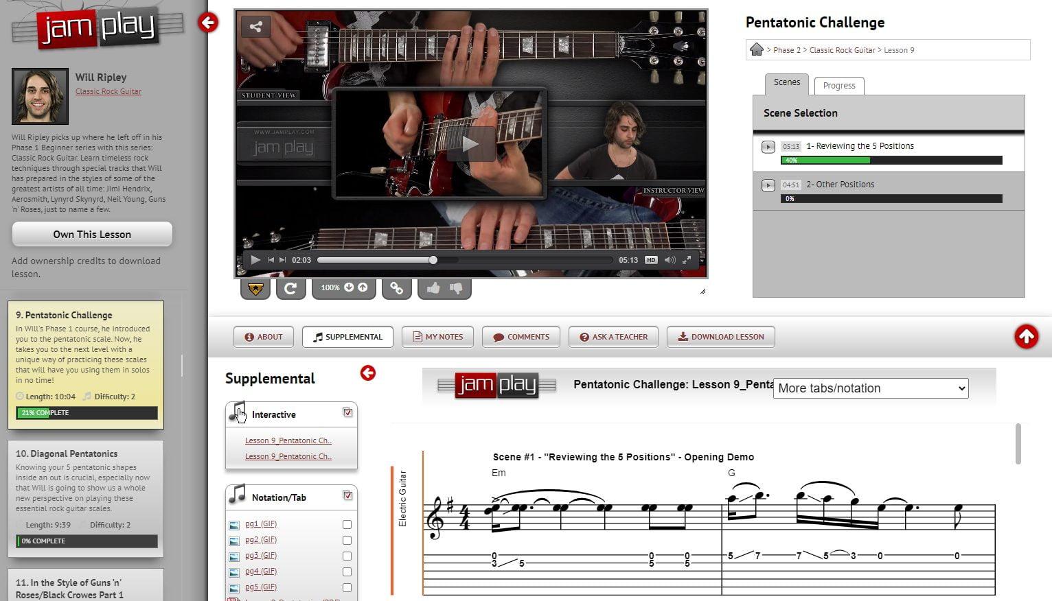 JamPlay Classic Rock Guitar Course