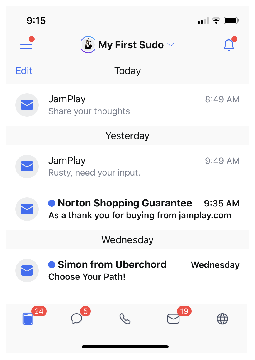 JamPlay Emails