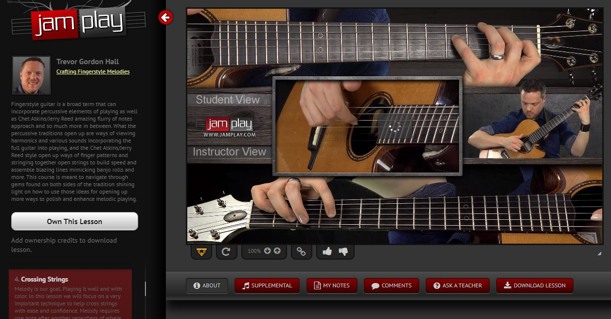 JamPlay Fingerstyle Acoustic Course Screengrab