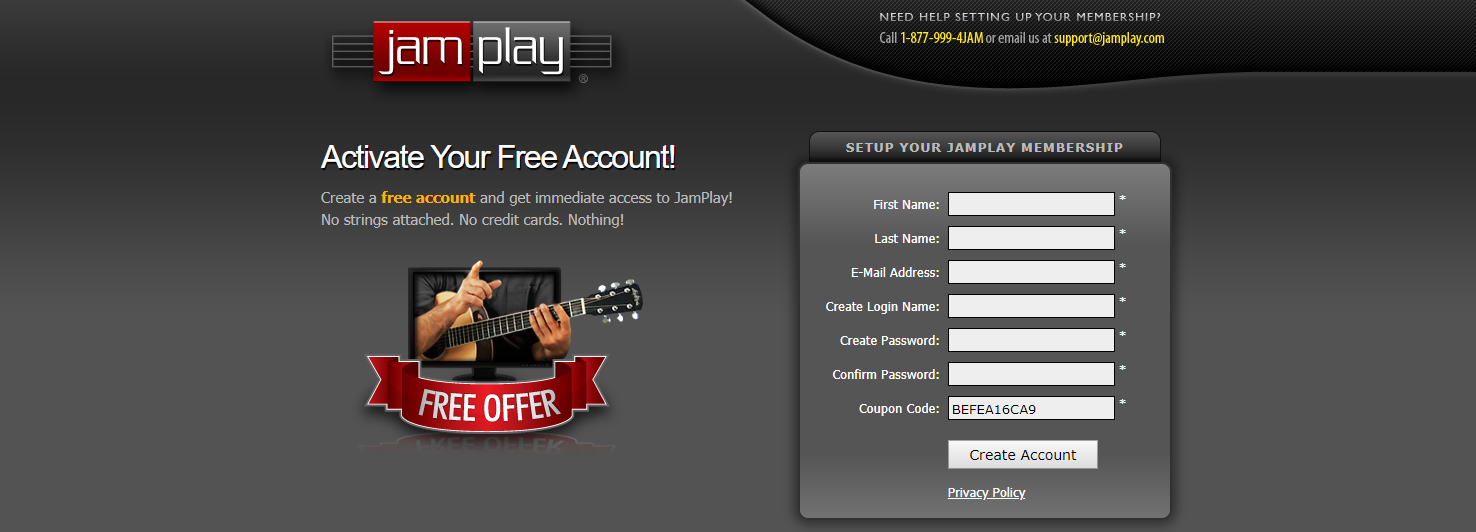 JamPlay Free Trial (seven days)