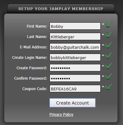 JamPlay Seven Day Free Trial Setup