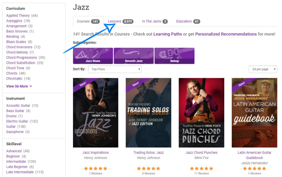 Jazz Courses on TrueFire