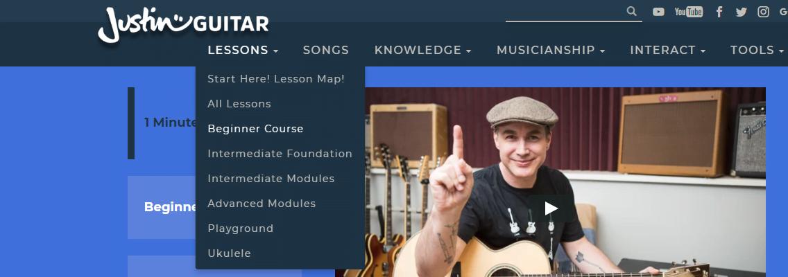 JustinGuitar Beginner Course