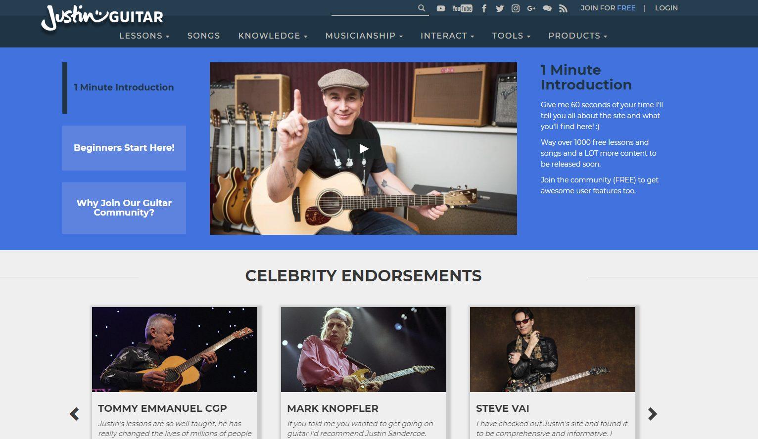 JustinGuitar Home Page