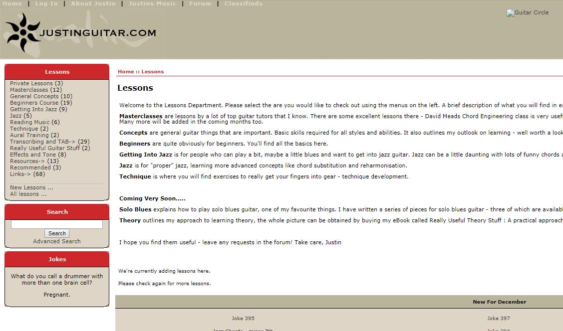 JustinGuitar Screengrab from 2005