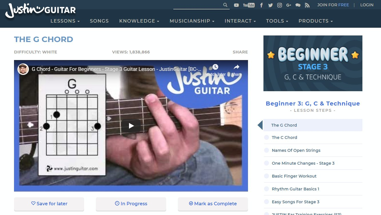 Justinguitar Beginner 3 Course Video