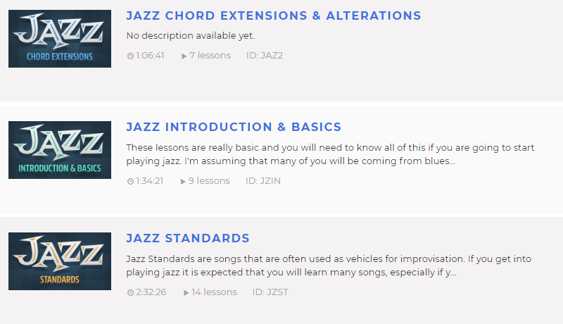 68 Jazz Guitar Lessons Online (free and paid) | Guitar Chalk