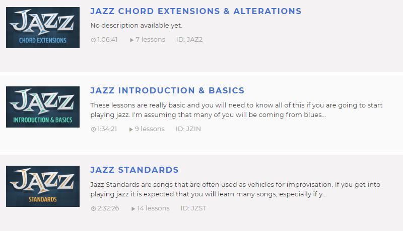 Justinguitar Jazz Courses