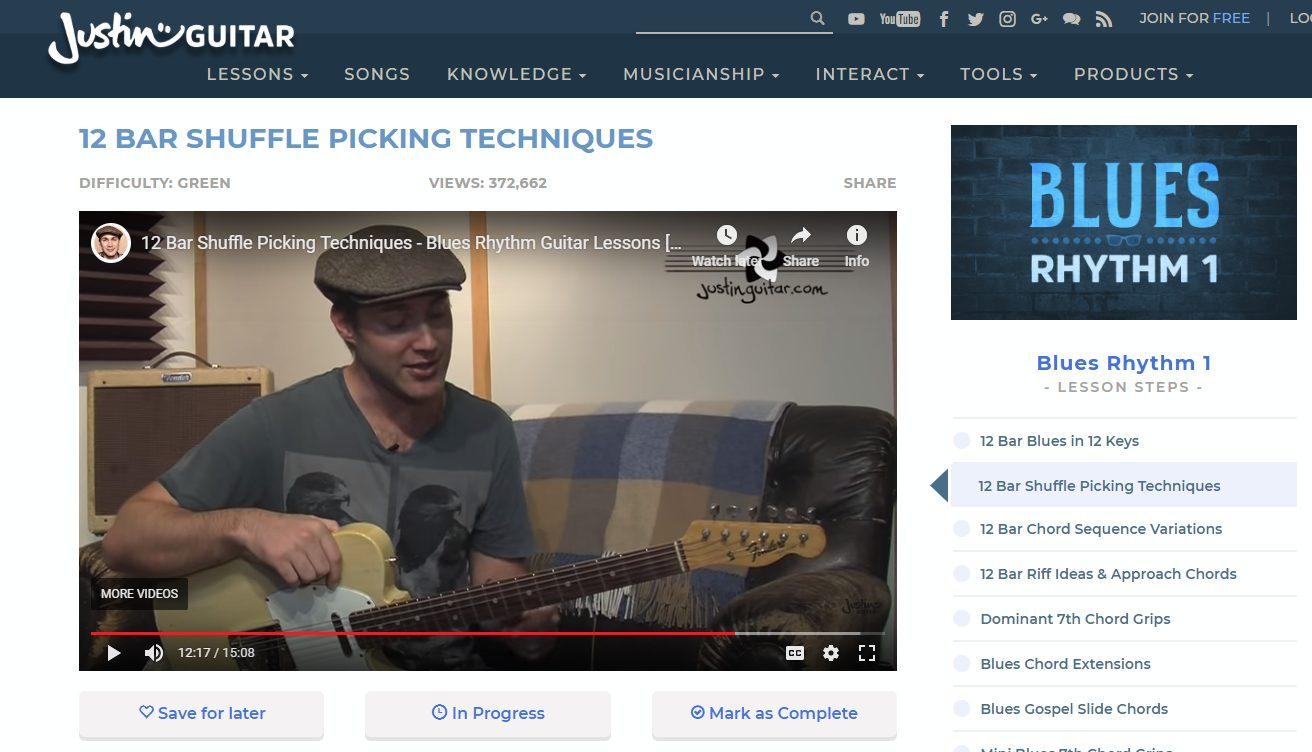 Justinguitar Video Player