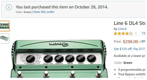 Line 6 DL4 Proof of Purchase