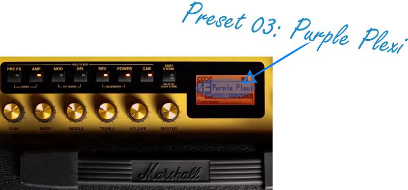 Marshall Code 50 Classic Rock Preset