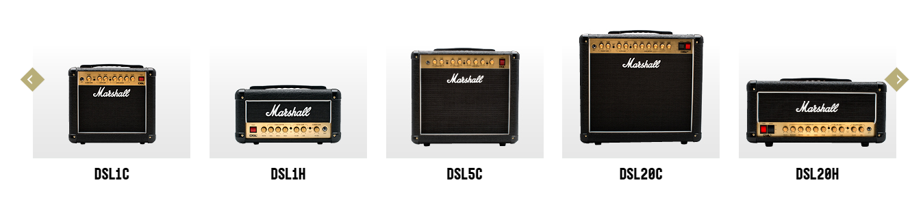 Marshall DSL Series as of August 2020