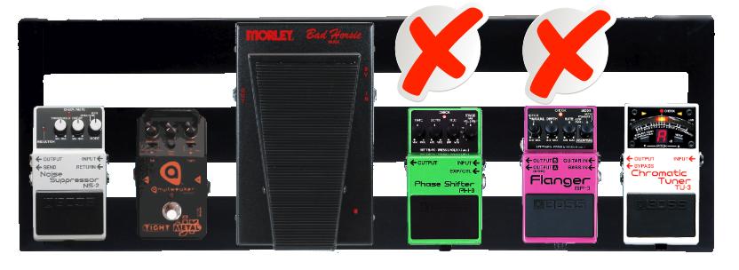 Metal Pedalboard Wrong Order (modulation front-load)