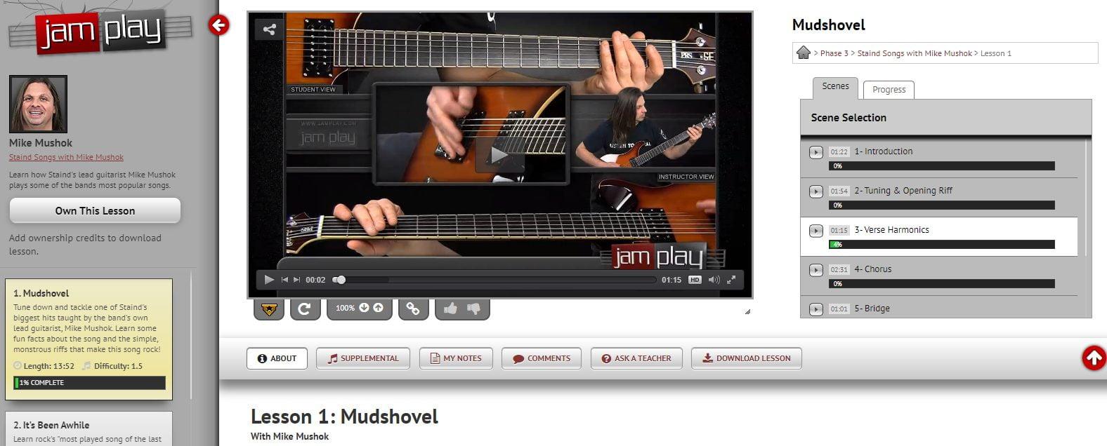 Mike Mushok Guitar Lesson in JamPlay