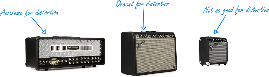 Amps with distortion