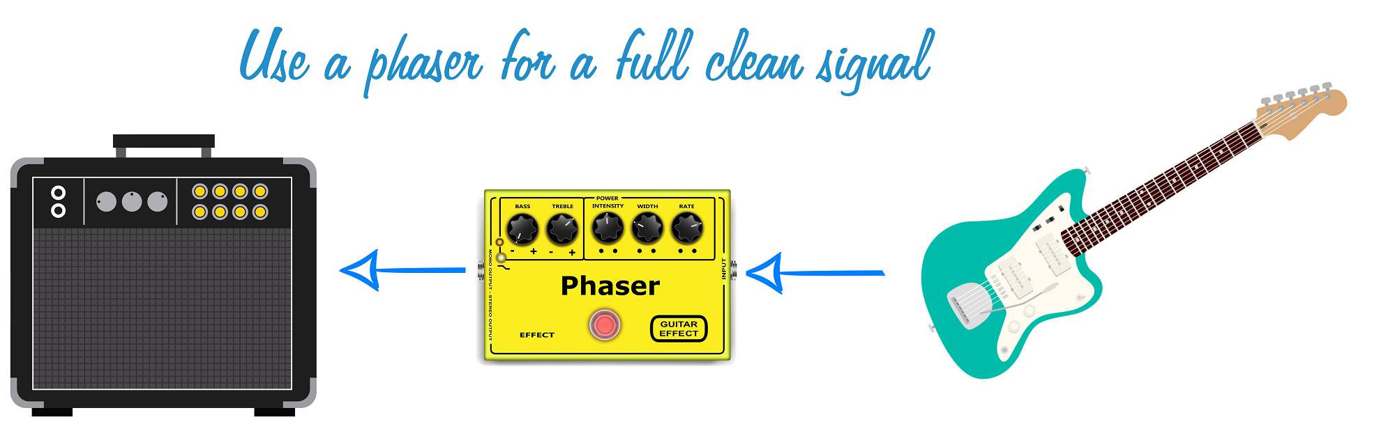 Phaser Pedal for Clean Signal