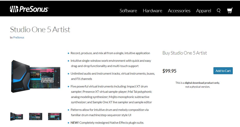 PreSonus Studio One Home Page