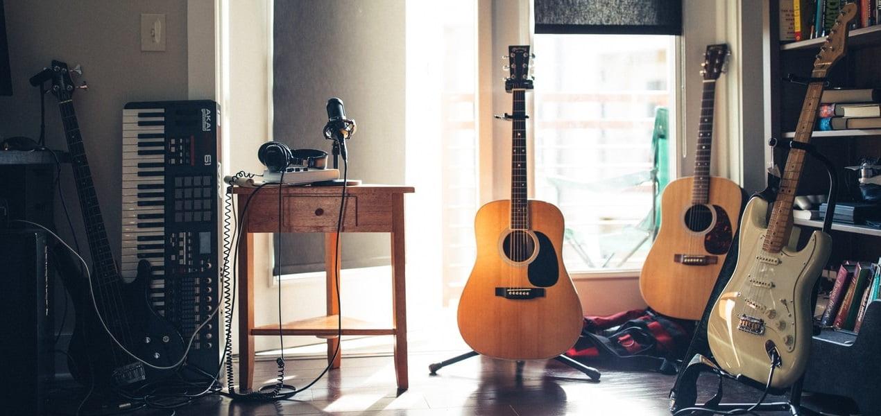 Recording Setup in Bedroom