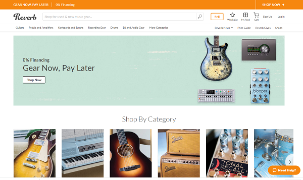 Reverb Home Page