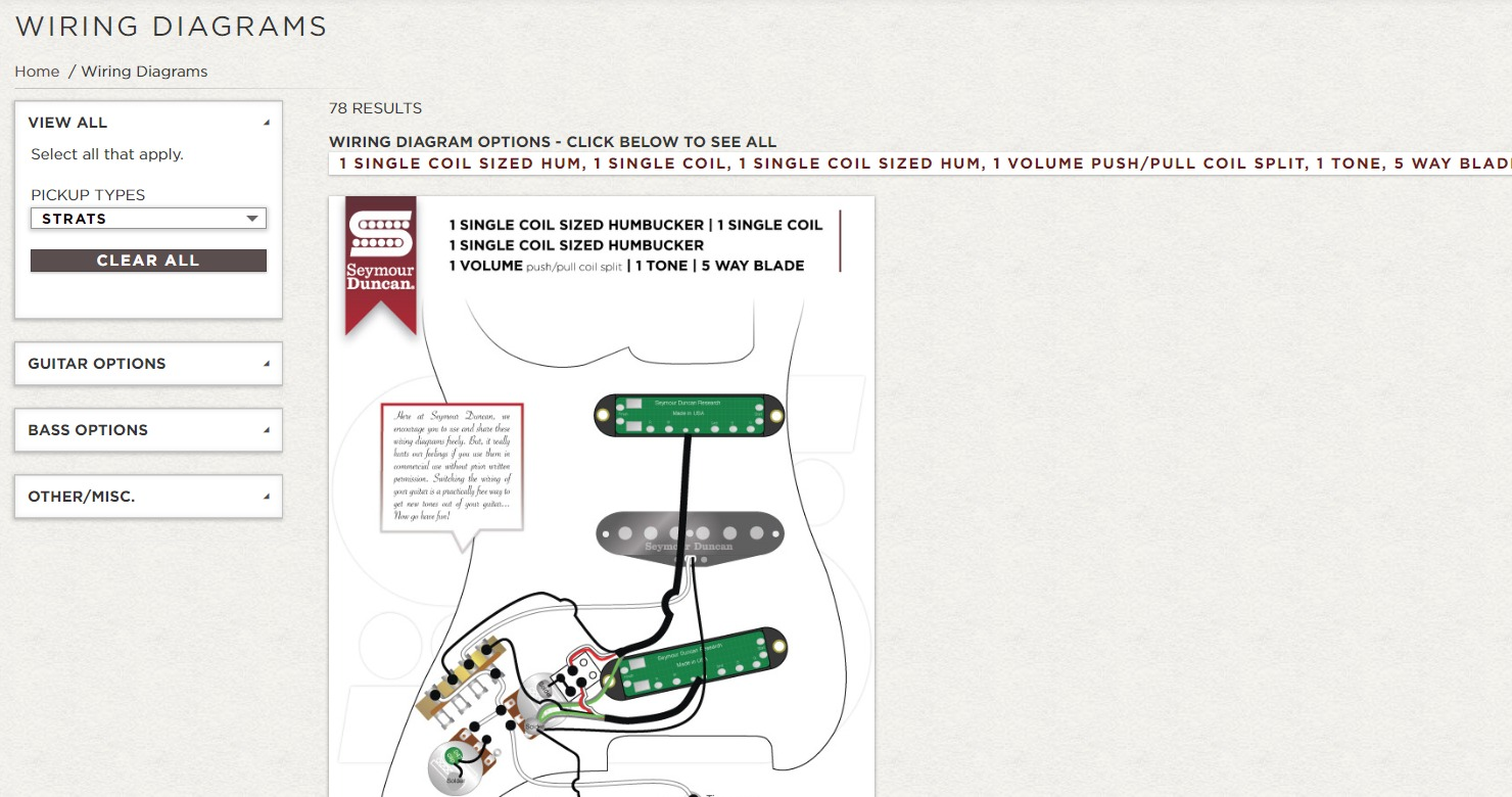 7 Pickup Installation And Wiring Documentation Resources Guitar Chalk Humbucker Singlecoil Sd Diagram Options
