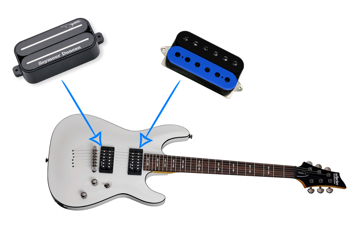 schecter omen pickup upgrade suggestion and build guide guitar chalk. Black Bedroom Furniture Sets. Home Design Ideas