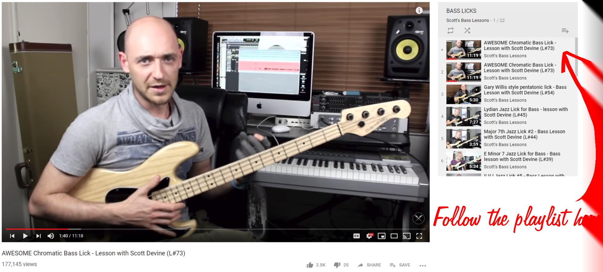 Scotts Bass Lessons Bass Licks Video