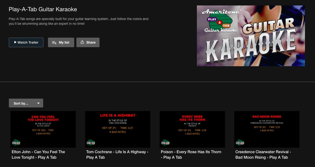 Guitar Songs in Karaoke Cloud