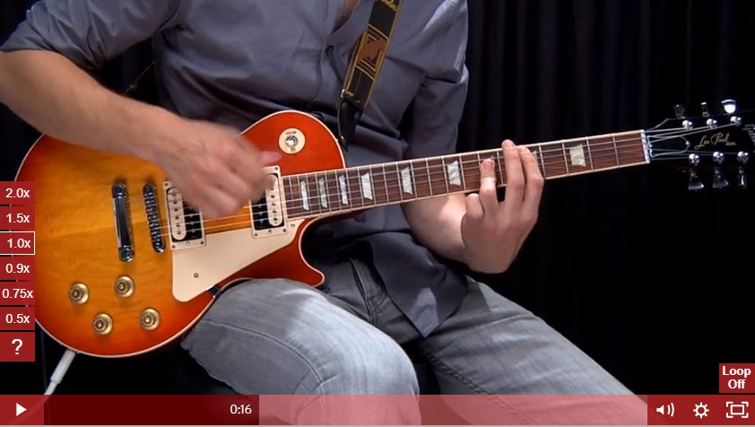 Strumming in Rock Guitar Tricks Course