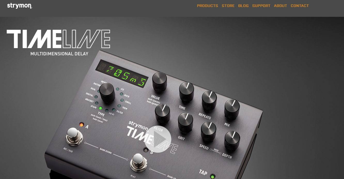 Strymon Timeline Home Product Page