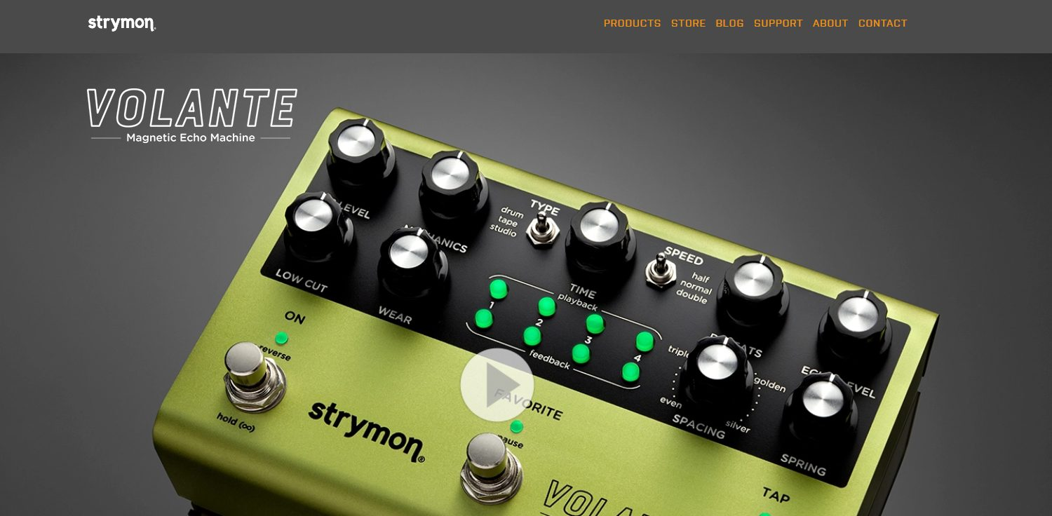 Strymon Volante Home Product Page