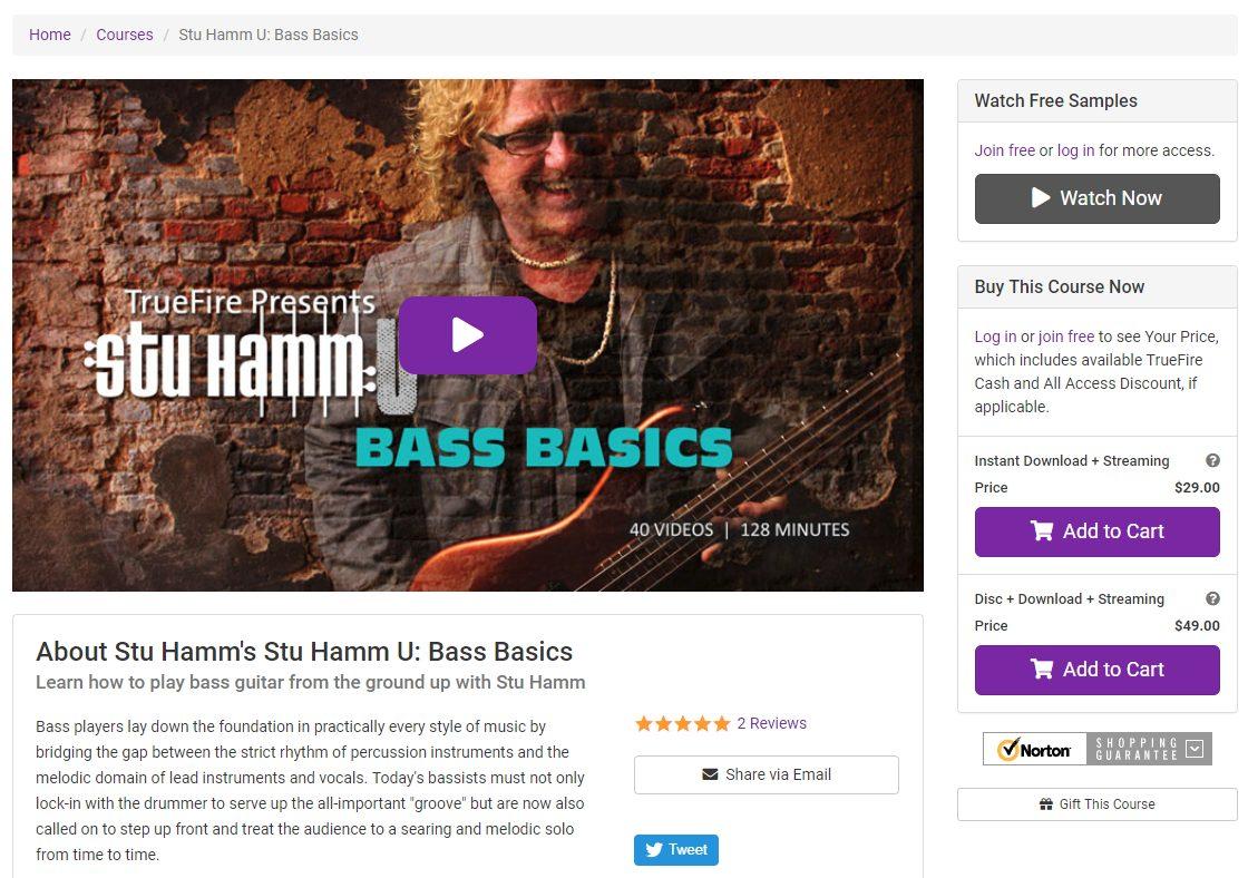 Stu Hamm's Bass Basics Course on TrueFire