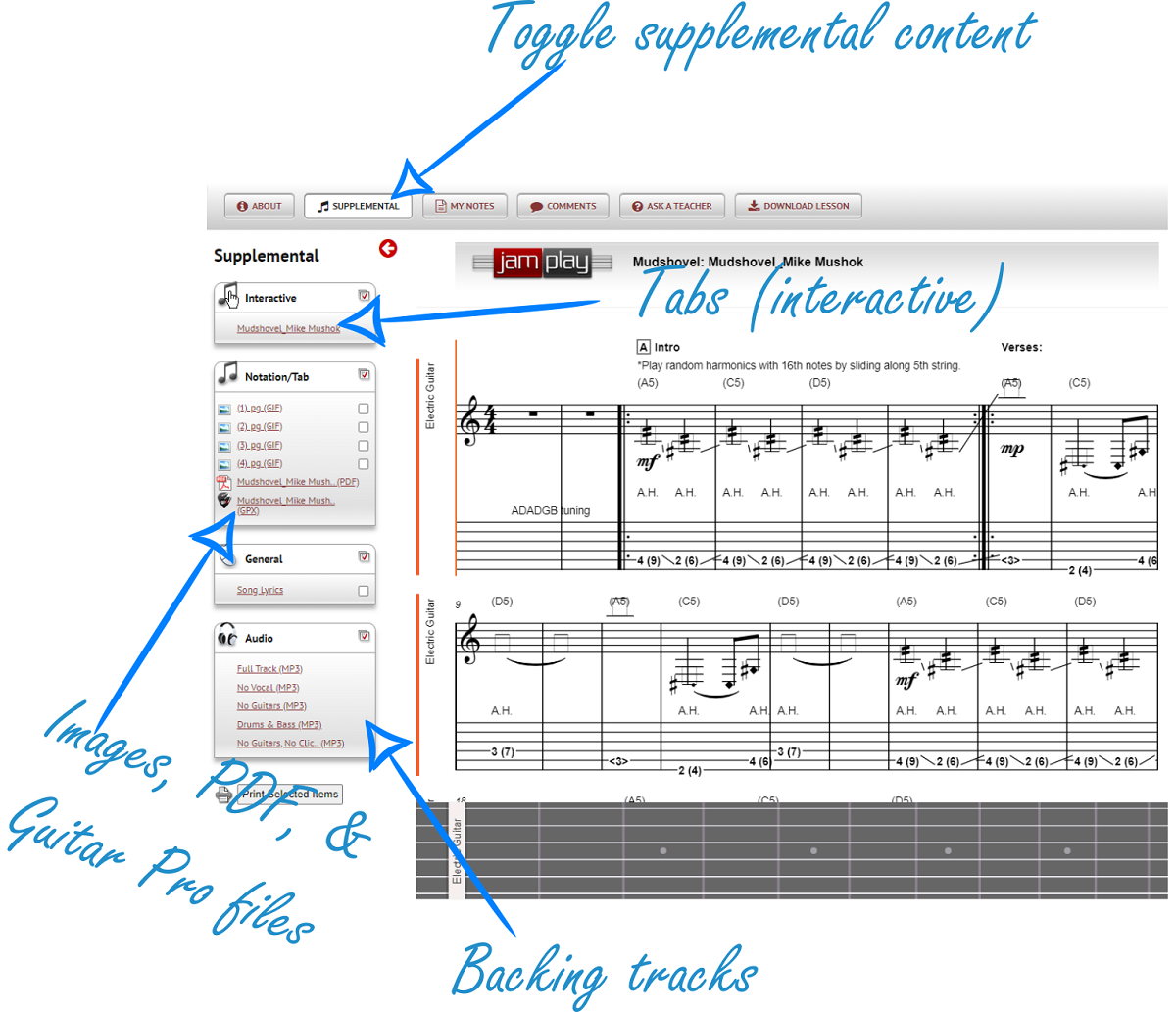 Supplemental Content in JamPlay (sized)