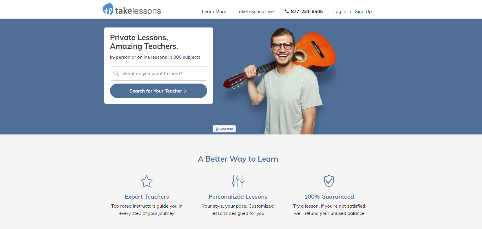 TakeLessons Home Page