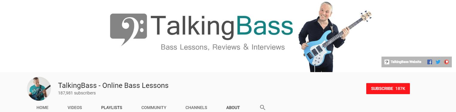 TalkingBass YouTube Channel