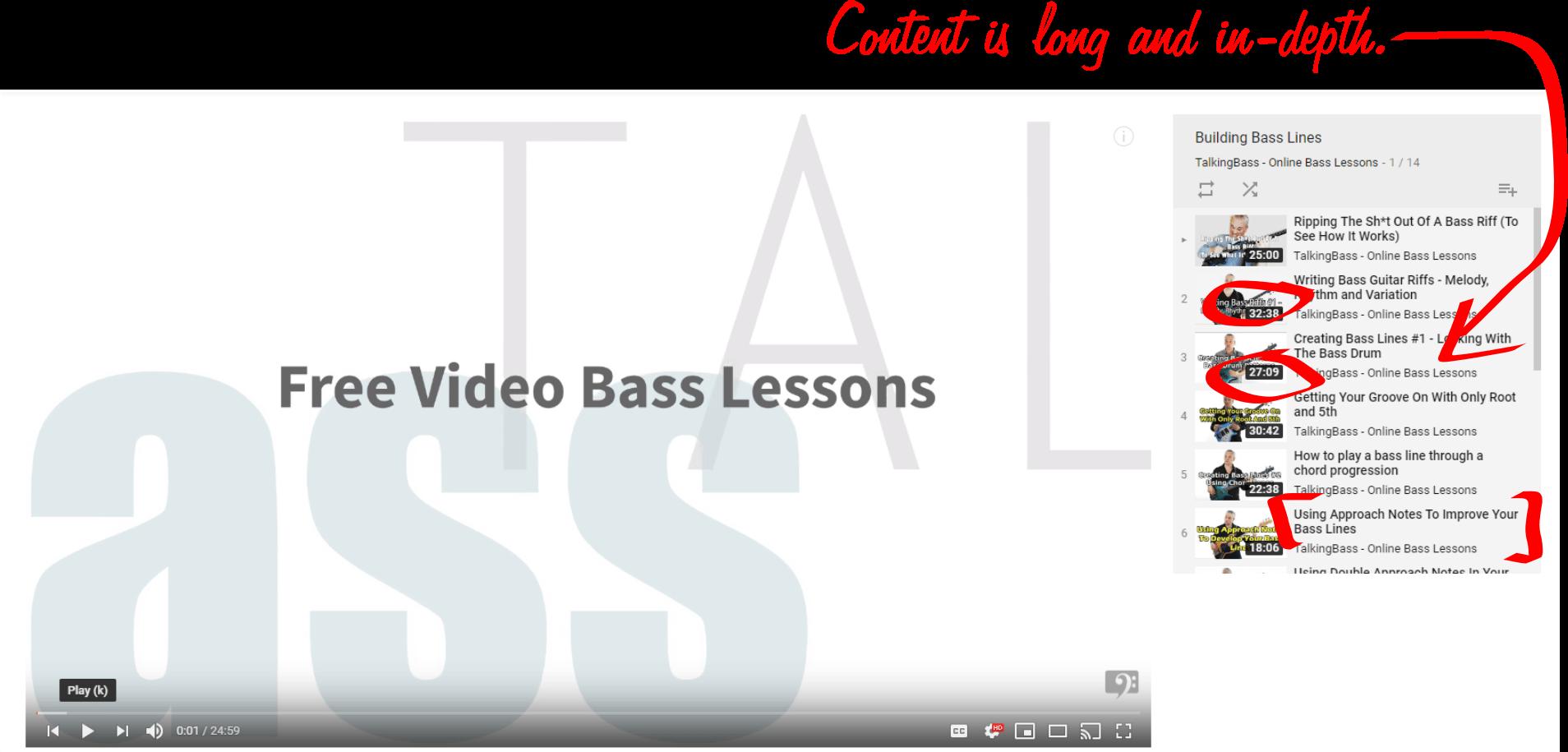 TalkingBass YouTube Playlist Example