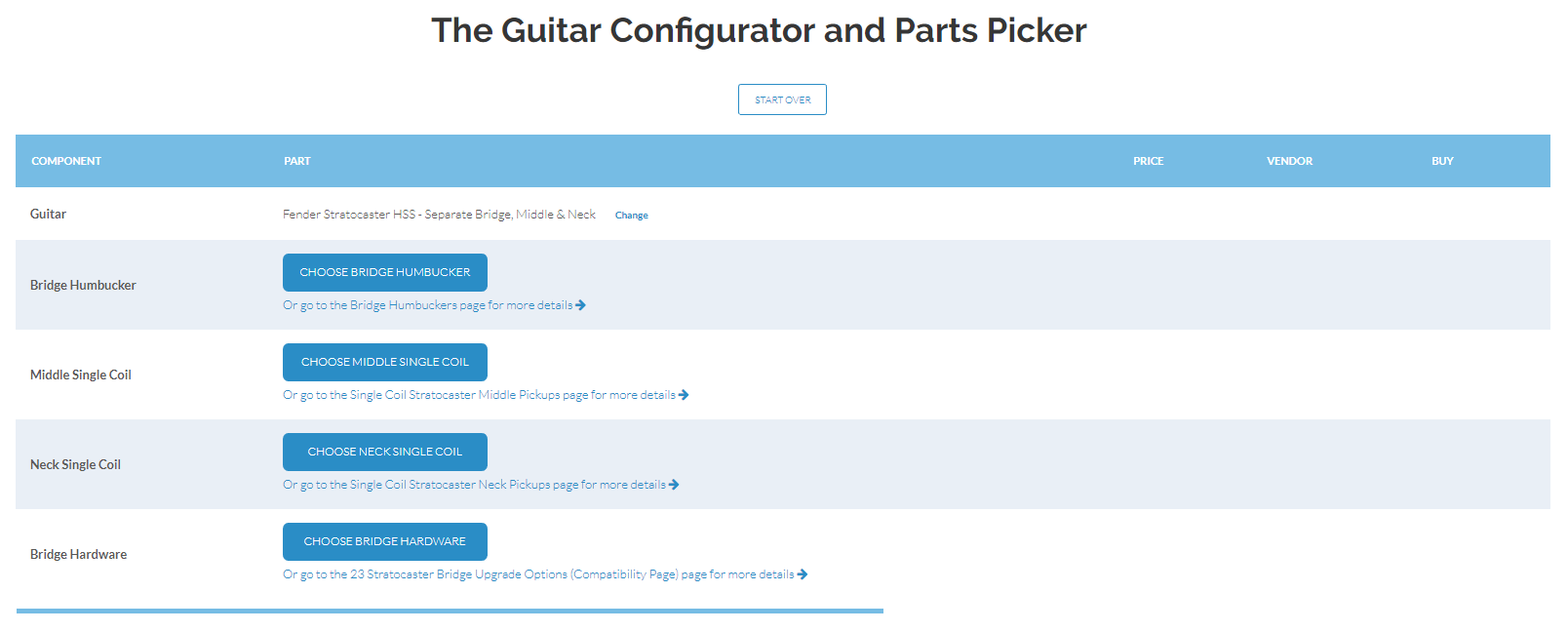 The Guitar Configurator