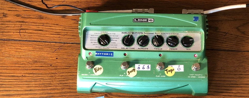 The Line 6 DL4 Delay Pedal