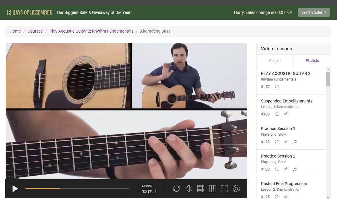 The Play Acoustic Guitar Course in TrueFire
