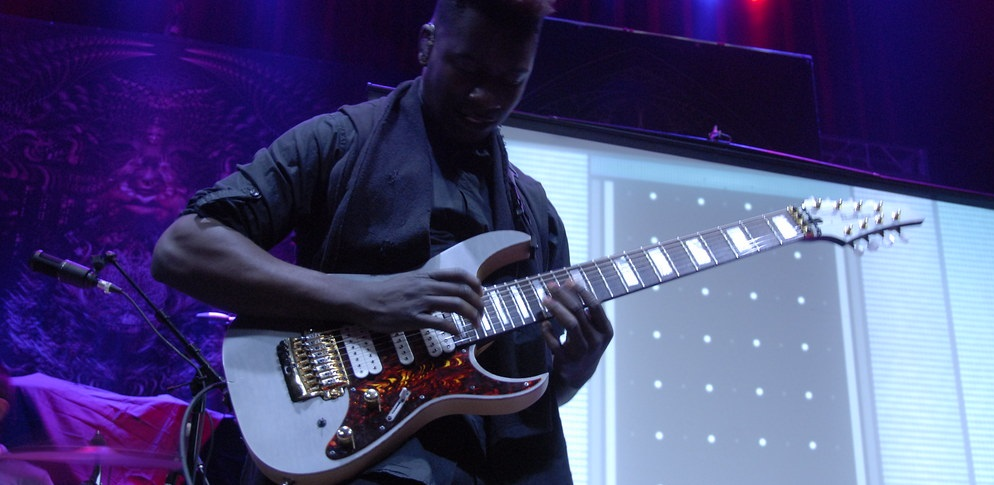 Tosin Abasi and his Extended Range Electric Guitar