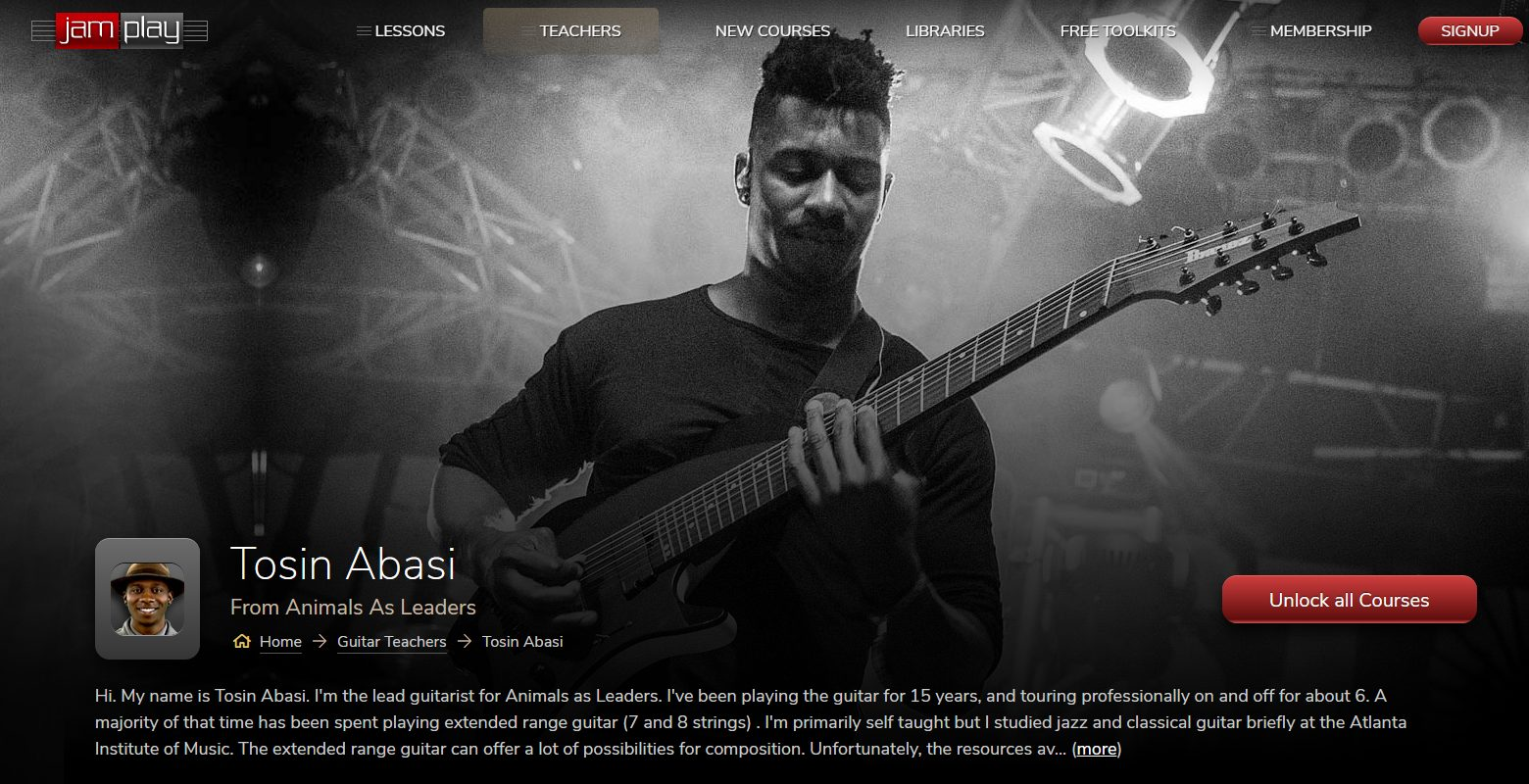 Tosin Abasi's Metal Guitar JamPlay Course (extended range)