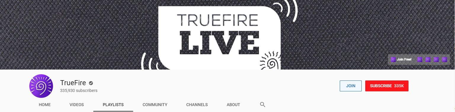 TrueFire Bass Banner
