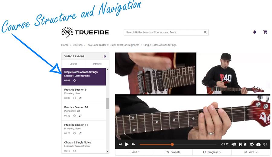 TrueFire Course Structure
