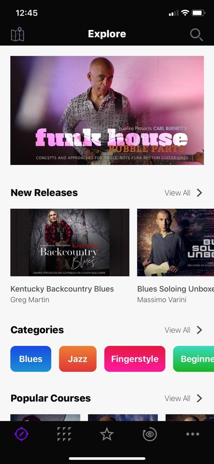 TrueFire Mobile App Screenshot
