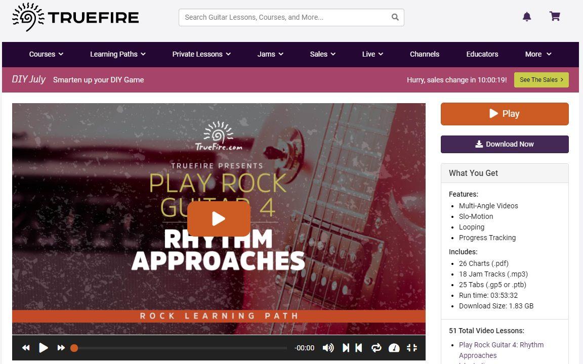 TrueFire Rock Learning Path