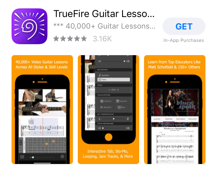 TrueFire iPhone App Download Page
