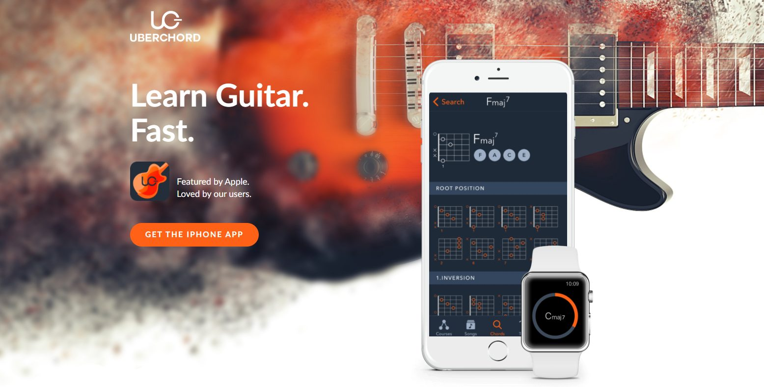 Uberchord App Home Page