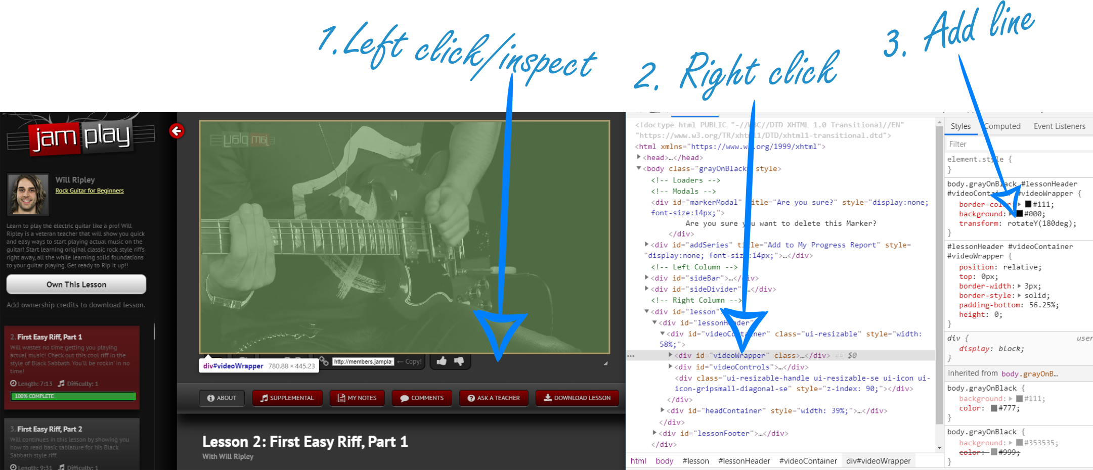 Watch JamPlay Videos Left Handed_2