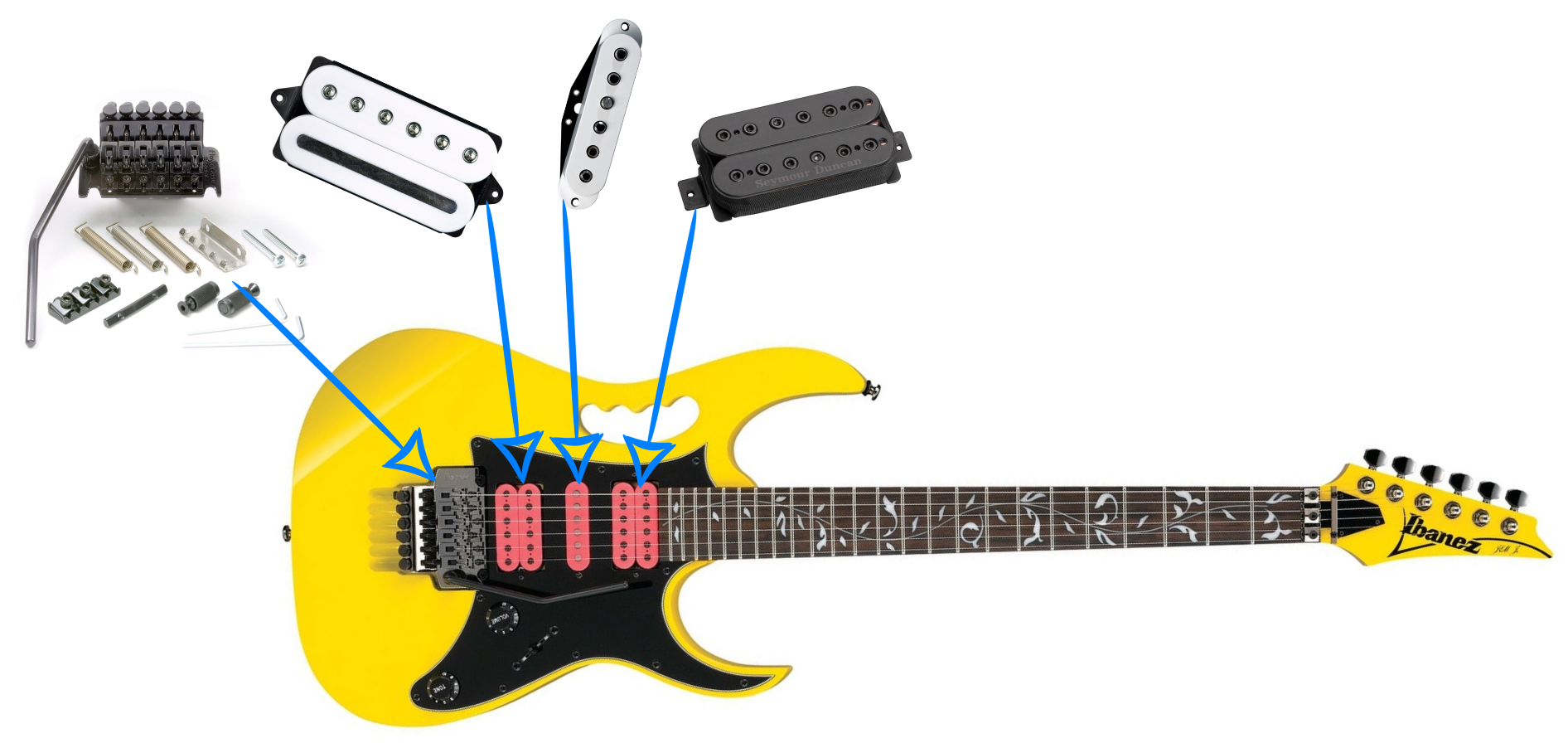 Ibanez JEM JR Pickup Upgrade Suggestion (Steve Vai Signature ... on