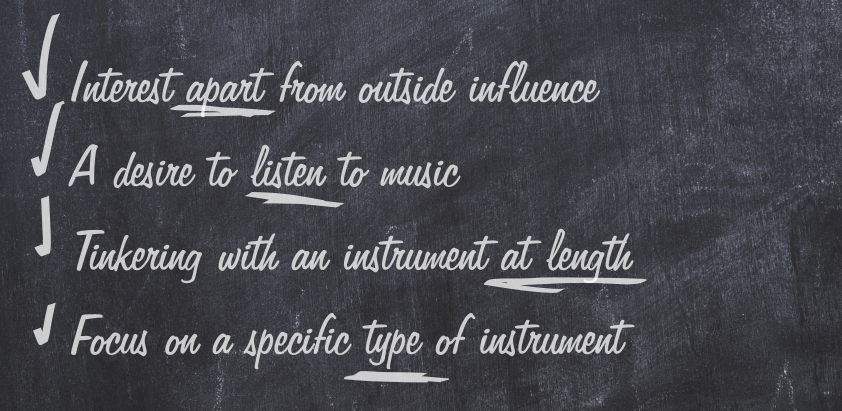 Signs of Genuine Interest in Music