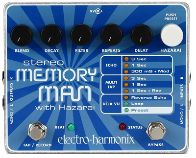Electro-Harmonix Memory Man with Hazarai